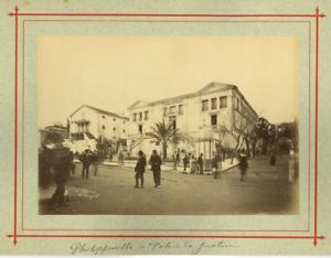 Algerie-Philippeville-Palais-de-Justice-Vintage-albumen-print-Tirage-albu
