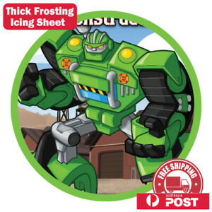 Transformers Rescue Bot Edible Image Cake Topper Round ...