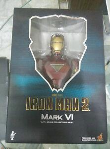 Hot Toys Htb 08 Iron Man 2 Marque Vi 6 Buste 1/4 Bavette Menthe Pas Cher