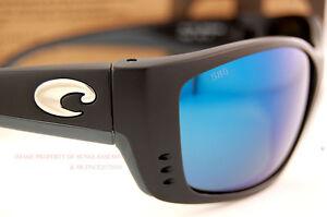 0f149a73c3 New Costa Del Mar Fishing Sunglasses TREVALLY Black Blue Mirror 580G  POLARIZED