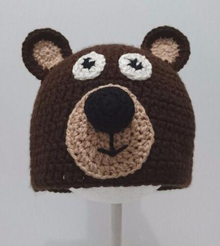 Cute Toddler Kids Girl/&Boy Baby Infant Crochet Knit beanie cap Bear costume