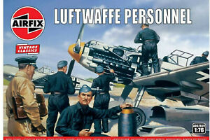 AIRFIX-1-76-LUFTWAFFE-PERSONNEL-VINTAGE-MODEL-KIT-SOLDIERS-WW2-WWII-A00755V
