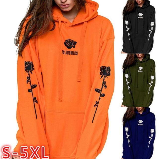 7951e0ae US Women Long Sleeve Hoodie Sweatshirt Sweater Hooded Jumper Coat Pullover  Tops