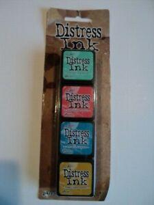 Look * Tim Holtz Détresse Encre Mini Pack Kit #13 TDPK 46738 Entièrement neuf sous emballage 4 encre mini coussinets