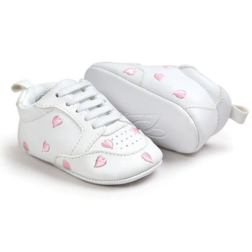 Toddler Newborn Kid Baby Boy Girl Crib Sole Shoes Leather Sneakers Pram Trainers