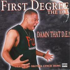 """First Degree The D.E. """"Damn That DE!"""", AUTOGRAPHED TO YOU! ('00)"""