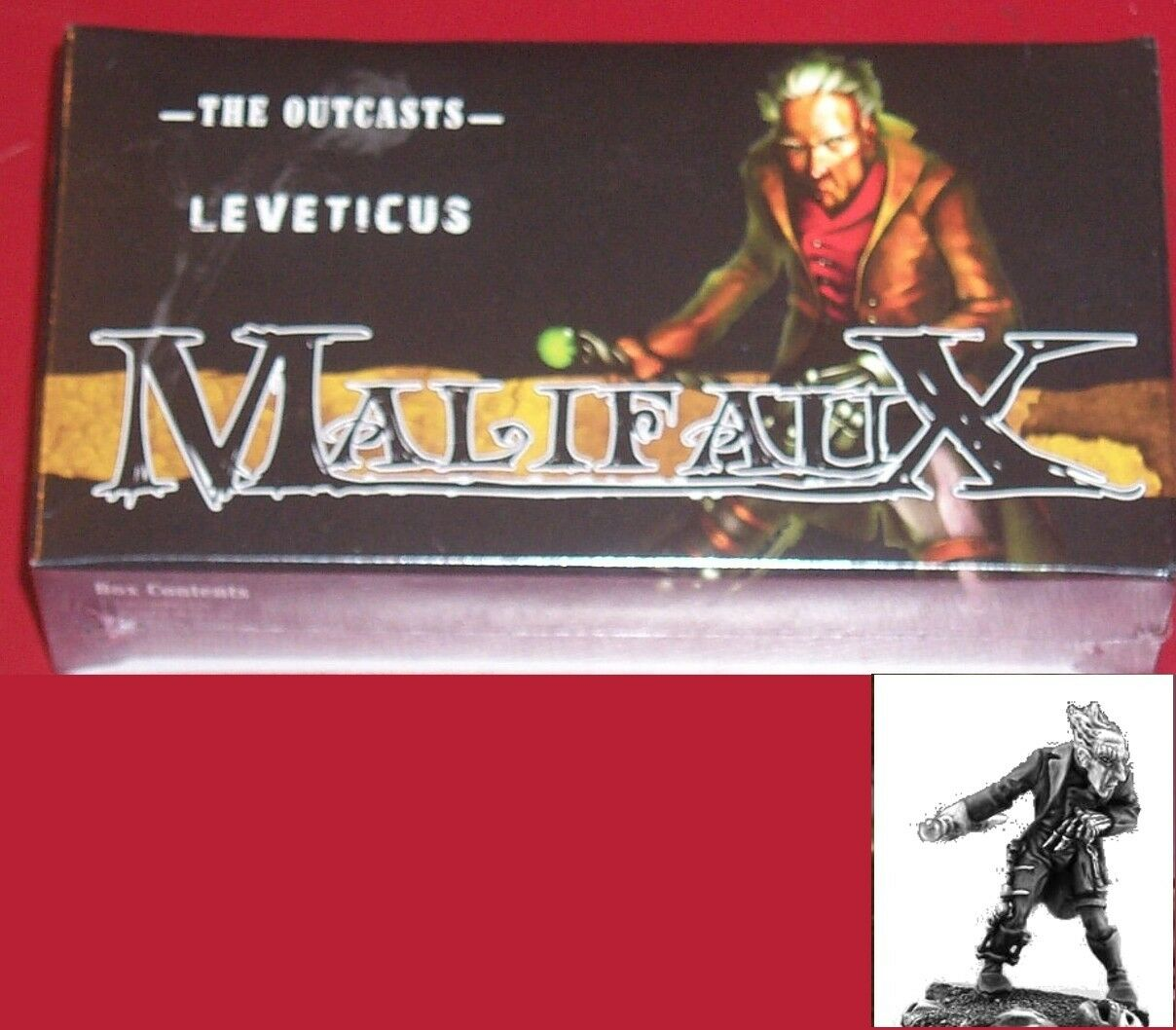 Malifaux WYR5037 Outcasts Leveticus Desolate & Soulless (7) Miniatures Box Set
