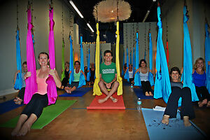 Medium image of image is loading deluxe flying yoga hammock for aerial yoga antigravity