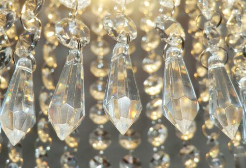 5 cristalli gocce SUN CACCIATORI Perline Feng Shui Giardino Windchime Ciondoli Charms