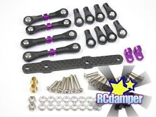 GPM  XV160S-OC-BEBK SPRING STEEL COMPLETED TIE ROD 1//10 RC FIT FOR TAMIYA XV-01