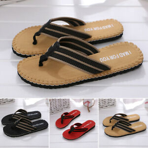 New-Mens-Sandals-Flip-Flops-Beach-Pool-Thongs-Fashion-Summer-Fit-Shower-Slippers