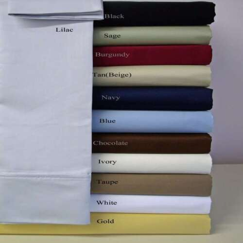 1000TC EGYPTIAN COTTON LUXURY BEDDING ITEMS CALIFORNIA KING SIZE ALL SOLID COLOR