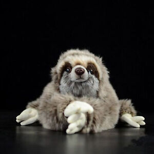 30cm-Lifelike-Three-Toed-Sloth-Plush-Toy-Soft-Stuffed-Animal-Doll