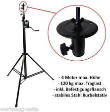 Stahl Stativ Kurbelstativ max. 4 m Höhe 120 kg Traglast Lichtmast Boxenständer