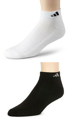 Adidas 6-Pair Men's Climalite Low Cut Socks BLACK or White for Shoe Size 6~12
