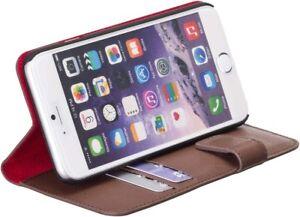 Redneck-Rosso-Linea-Portafoglio-Custodia-Folio-per-Apple-iPhone-6-6s-Marrone