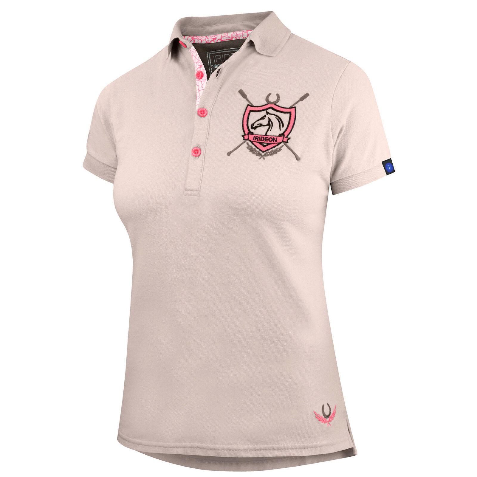 Irideon Women's Princeton Polo Shirt-Oatmeal-XL