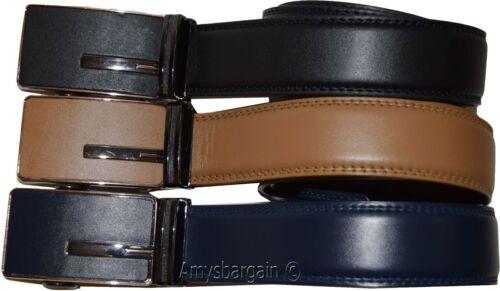 Men's Dress /& Casual belt Leather belt Band* Strap Men/'s Automatic lock belt
