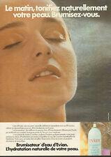 Publicité Advertising 1982 EVIAN brumisateur d'eau minérale naturelle