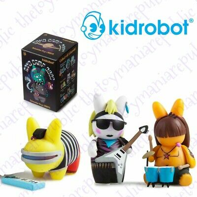 Set 3 Kidrobot Labbit Band Camp 3000 Mini Series Figure The Labbi-Tones Band