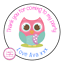 Personalised-Owl-Bird-Animals-Birthday-Thank-You-Party-Stickers-Sweet-Cones thumbnail 1