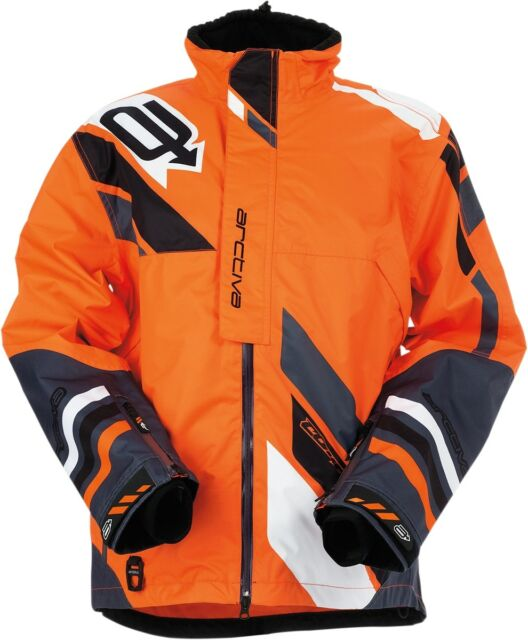 Arctiva Mens Comp Insulated Black Gray Snowmobile Jacket 3120-157X