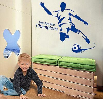 Boys Champions Football Wall Sticker Home Decor Wall Decals Bedroom Kids Art