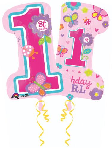 Sweet Birthday Girl 1st-diapositives Ballon 48 x 71 cm Enfants Anniversaire Partydeko