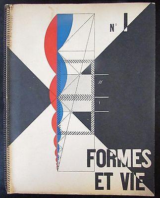 ARCHITECTURE 1951 LE CORBUSIER REVUE FORMES et VIE No 1 FERNAND LEGER M. RAGON