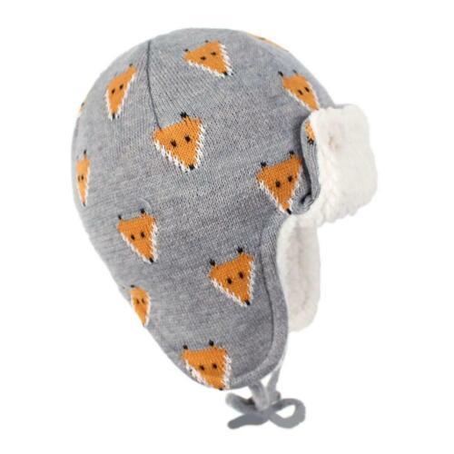 Baby Girls Boy Toddler Winter Warm Fleece Crochet Beanie Cap Earmuffs Hat