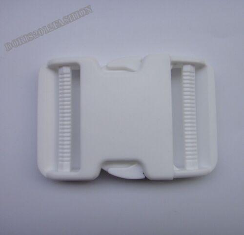 """50mm 2/"""" Adjusting Plastic side release buckles Belt  Paracord clips webbing Pick"""