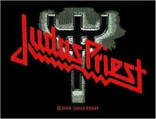 OFFICIAL LICENSED - JUDAS PRIEST - FORK LOGO WOVEN PATCH METAL HALFORD