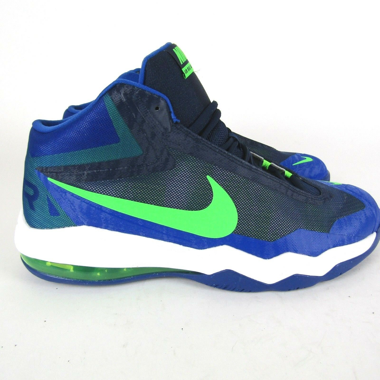 998514fb2a NEW Nike Air Max Audacity 704920-401 Basketball Mid Navy Green Streak White  13