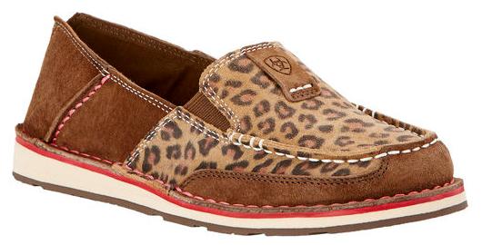 Ariat® Ladies Cruiser Dark Earth Marronee & Cheetah Print scarpe 10017458