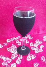 BLACK GEMMED RHINESTONE  GLITTER GLASSES WEDDING BIRTHDAY CHRISTMAS GIFT