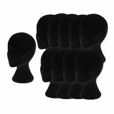 10 Female Styrofoam Mannequin Manikin Head Models Display Stands For Wigs