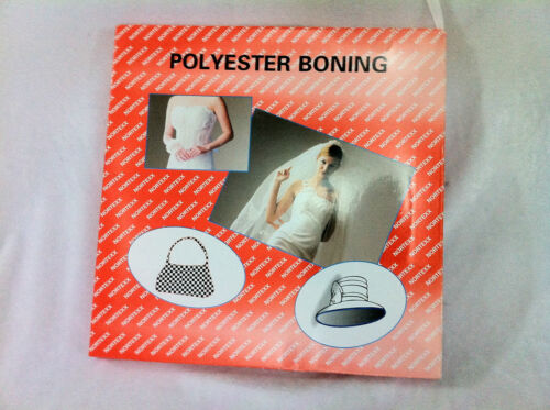 Polyester Boning White/Black 8mm or 12mm size 2m,5m or 10meter avalible