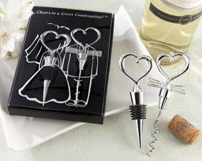 96 Cheers Wine Bottle Opener Stopper Set Wedding Favors