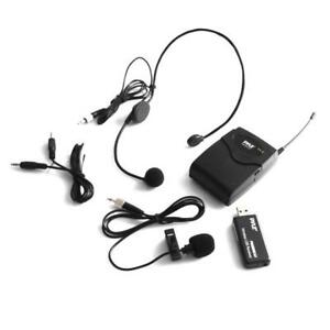 Pyle-Belt-Pack-Microphone-System-w-Wireless-USB-Receiver-Headset-Mic-amp-Lavalier