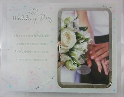 """""""wedding Day"""" Vetro Cornice Foto Keepsake / Boxed / Regalo / Regalo Di Nozze-"""
