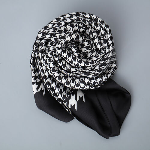 Luxurious Men/'s Houndstooth Scarf Winter Scarf Premium Silk Feel Perfect Gift