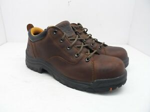 27b35bfd259 Timberland PRO Women's TiTAN Oxford Steel Toe Work Shoes 63189 Brown ...