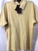 Tasso Ella Yellow Casual Golf Shirt Mens Size Med