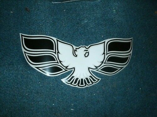 1970 1971 1972 PONTIAC FIREBIRD TRANS-AM FRONT BUMPER DECAL WHIT