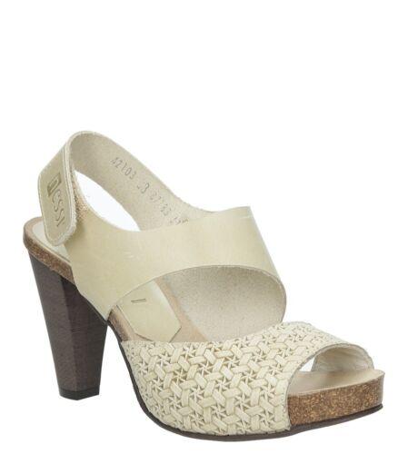 Damen Sandaletten Nessi Klettverschluss Blockabsatz Elegant Gr 36-40 NEU