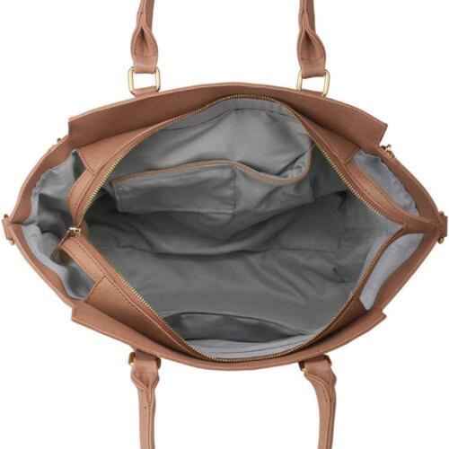 Womens Designer Handbags Ladies Faux Leather Stylish Tote Shoulder Bag Large New