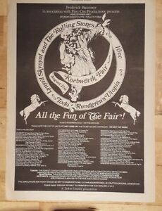 Knebworth-fair-Rolling-Stones-10cc-1976-press-advert-Full-page-26-x-39-cm-poster