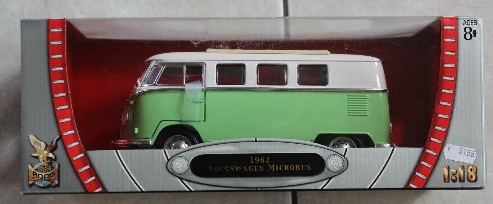 Yat Ming 92328 Volkswagen Microbus 1962 hellgrün 1 18