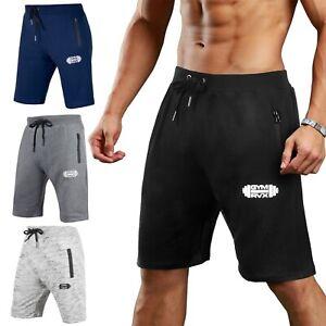 Gym-Rvx-Mens-Joggers-Sweat-Summer-Shorts-Zip-Pockets-Fleece-Jogging-Bottoms