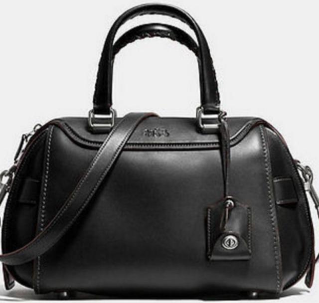NWT Coach Ace Satchel Leather Handbag 37017 Black $595
